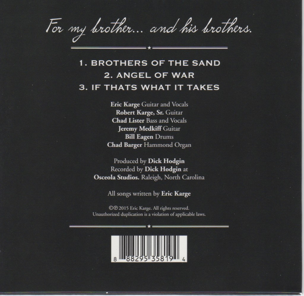 Brothers of the Sand CD Back Cover